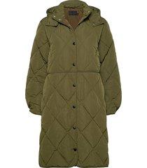 berrykb puffer coat gevoerde lange jas groen karen by simonsen