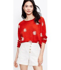 loft floral relaxed sweater