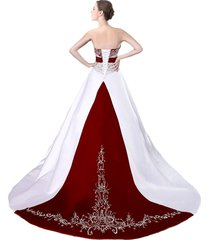cheap burgundy and white wedding dresses,wedding gown,bridal dress, bridal gown