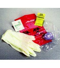 mini pocket rescue medic emt ems glove box cpr face shield barrier mask kit pack