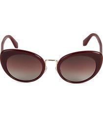 mu o6ts 53mm oval sunglasses