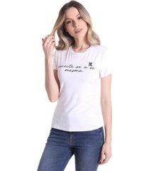 t-shirts daniela cristina gola u 01 10239 2 branco - branco - pp - feminino