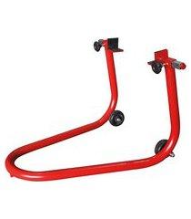 cavalete para suspensao traseira metalcava vermelho