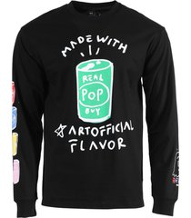 black and green long sleeve t-shirt