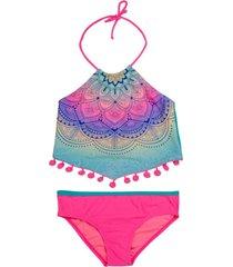 bikini sublimado uv30 fucsia h2o wear