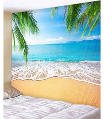 palm leaves beach print tapestry wall hanging art decoration