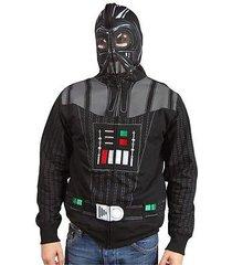 men's star wars darth vader character zipped hoodie full face mask hooded hoodie