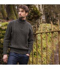 the dunmore aran sweater green l