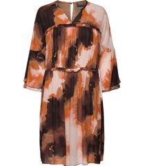 cirah blur dress knälång klänning orange mos mosh
