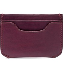 bosca italo leather card case in eggplant at nordstrom