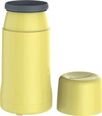 garrafa termica onix 250ml amarela - incolor - dafiti