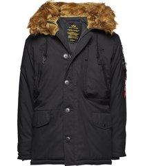 polar jacket parka jacka svart alpha industries