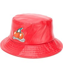 fiorucci cherry vinyl bucket hat - red