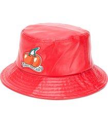 fiorucci cherry vinyl bucket hat - red
