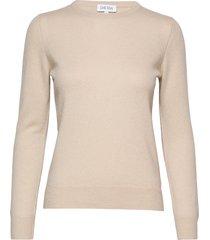 basic sweater stickad tröja beige davida cashmere