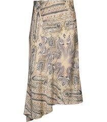radiant skirt knälång kjol beige odd molly