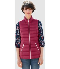 bodywarmer dress in fuchsia