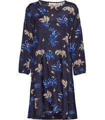 naella dress knälång klänning blå masai