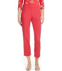 women's st. john collection audrey stretch micro ottoman capri pants, size 16 (similar to 14w) - red