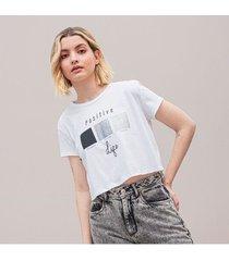 camiseta amplia corta manga corta mozza