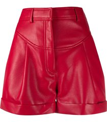 philosophy di lorenzo serafini faux-leather shorts - red