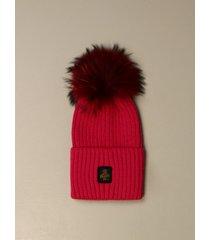 refrigiwear hat refrigiwear beanie hat with fur pompom
