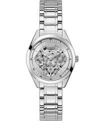 reloj guess clear cut gw0253l1 - plateado