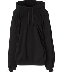 relaxed-fit hoodie black