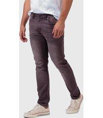 jeans wrangler larston slim fit  rojo - calce ajustado