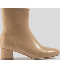 na-kd shoes soft ankle boots - beige