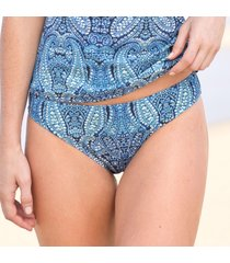 indigo paisley charmer swimsuit bottom