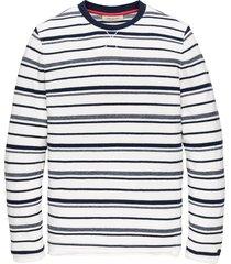 cast iron cts202202 5118 long sleeve r-neck mouline stripe dress blues blauw