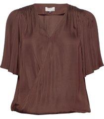 day lively blouses short-sleeved bruin day birger et mikkelsen