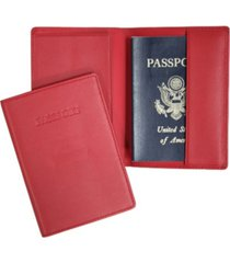 men's royce new york passport embossed rfid blocking passport case