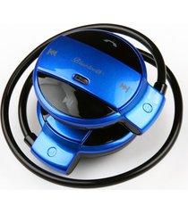 audifonos bluetooth, nuevo audifonos bluetooth manos libres  de los deportivos del mini estéreo hd plegable inalámbricos de fm después de auriculares manos libres con mic para sony iphone samsung (azul)