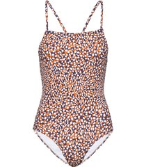 cade convertable stap swimsuit baddräkt badkläder brun french connection