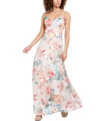 eliza j sleeveless floral gown