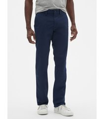 pantalon hombre straight stretch khaki azul gap gap