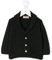 la stupenderia shawl collar cardigan - grey