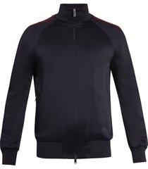 striped sleeve jacket