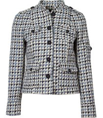 casaco le lis blanc lethicia tweed alfaiataria azul feminino (tweed azul dusk, 50)