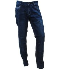 cars heren jeans regular fit stretch lengte 34 loyd dark used blauw