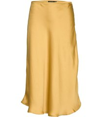 slelby skirt knälång kjol gul soaked in luxury