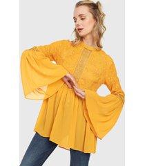 blusa amarillo paris district