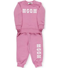 msgm two pieces jumpsuit with logo