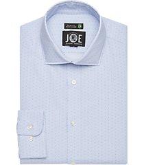 joe joseph abboud blue print slim fit dress shirt