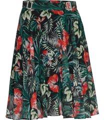grace skirt knälång kjol multi/mönstrad guess jeans