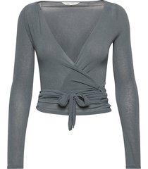 anne top blouse lange mouwen grijs gai+lisva