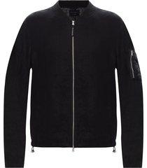 borra linen bomber jacket