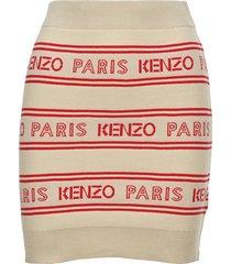 kenzo kenzo paris logo motif skirt